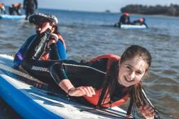 paddleboarding fun iow